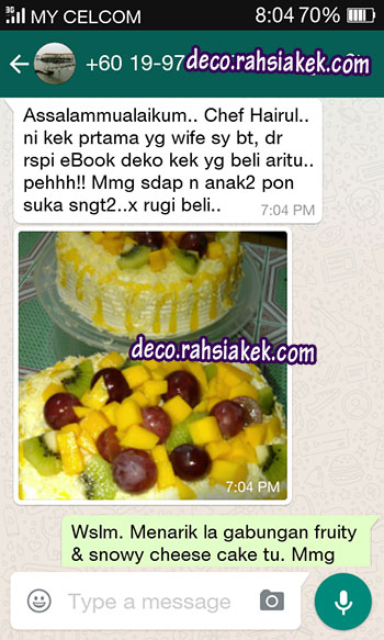 testimoni kek fruity cheese