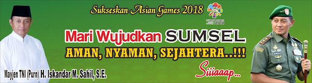 Iskandar M. Sahil, Calon Gubernur Sumatera Selatan Periode 2018-2023