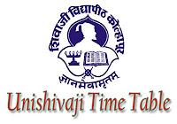 unishivaji time table 2018