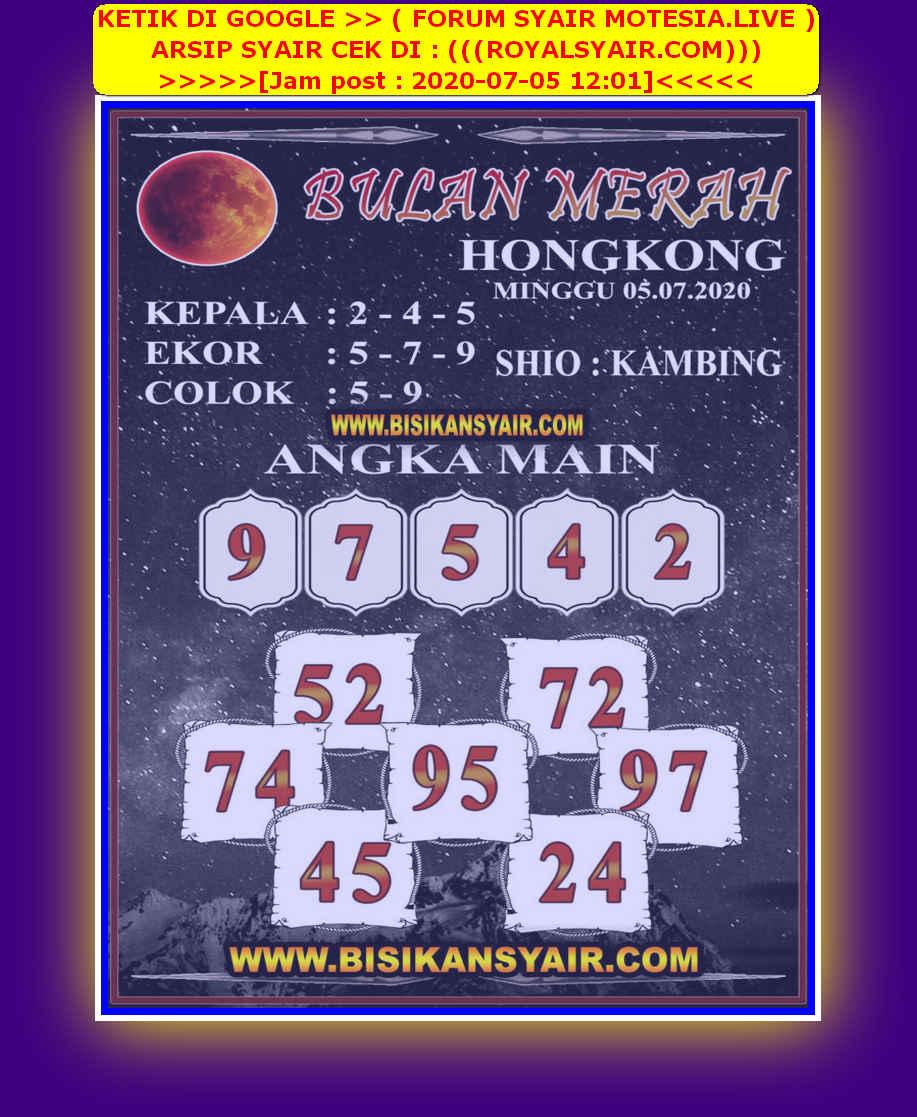 Kode syair Hongkong Minggu 5 Juli 2020 285
