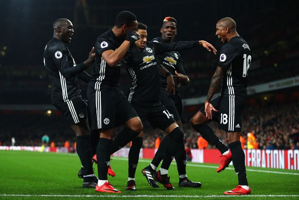 Manchester United beat Arsenal in the last game