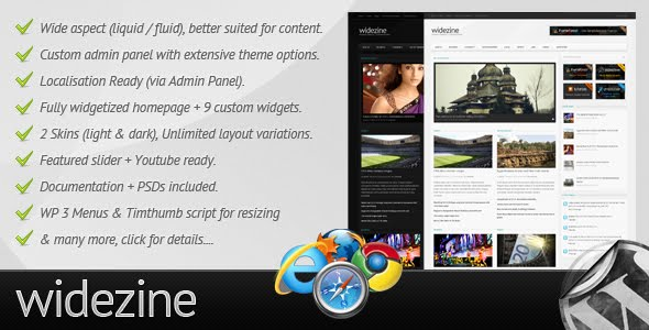Widezine - Magazine Wordpress Theme Free Download by ThemeForest.