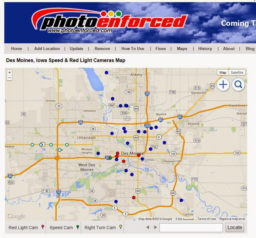 Des Moines Mobile Speed Camera Locations