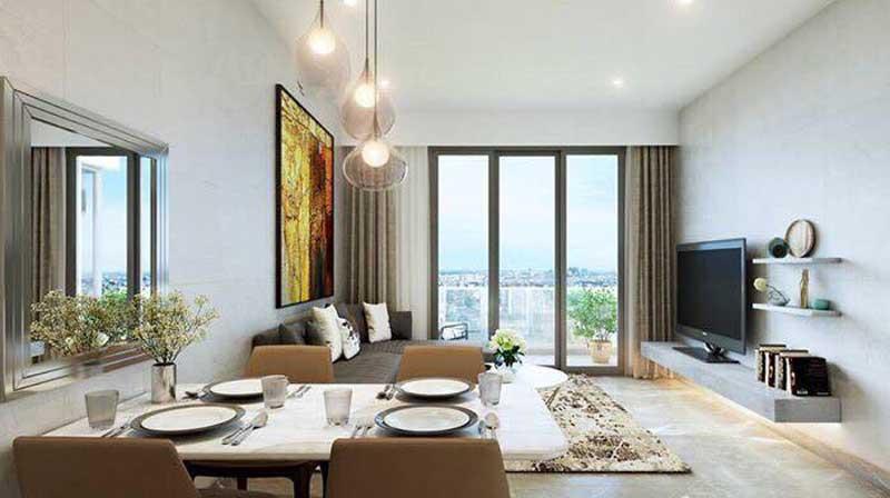 Phòng khách căn hộ kingdom 101