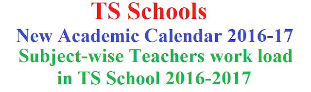 Subject-wise,Teachers work load,TS School 2016-2017