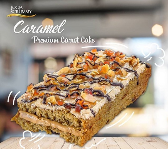 caramel premium carrot cake jogja scrummy