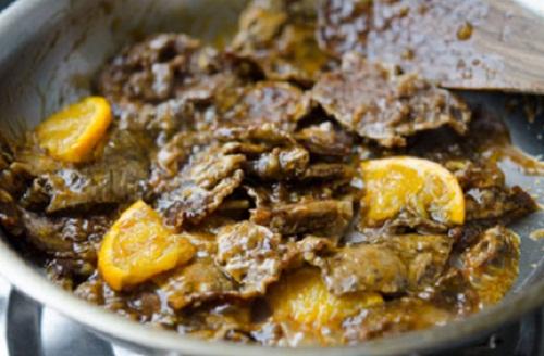 Tập làm món bò sốt cam