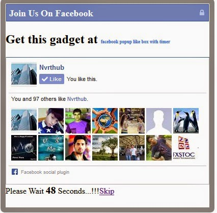 facebook like box timer