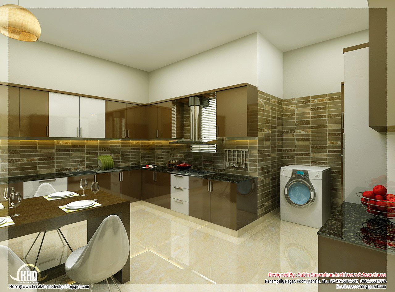 Beautiful interior design ideas kerala home design and for Home kitchen design ideas