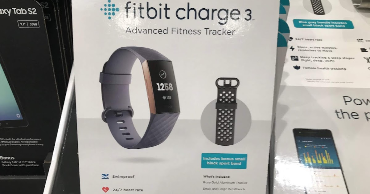 Fitbit Charge 3 Fitness Tracker   Costco Weekender