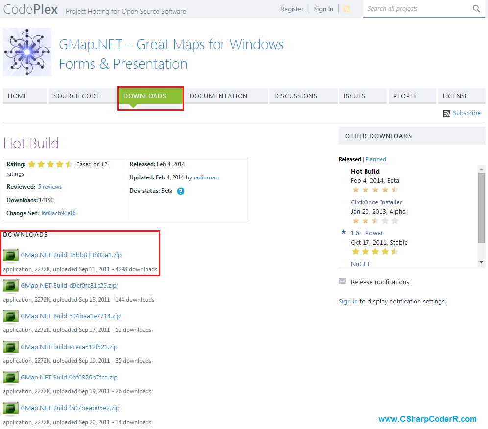 Работа с картами в Windows Form с использованием GMap NET