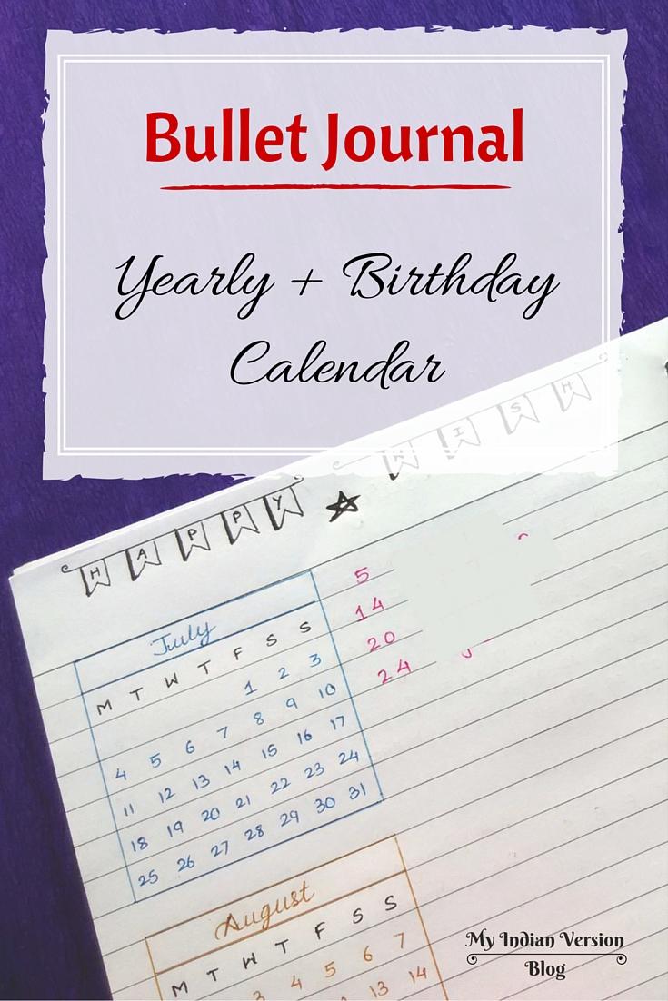 Calendar Bullet Journal