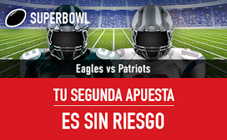 sportium promocion Superbowl Eagles vs Patriots 5 febrero