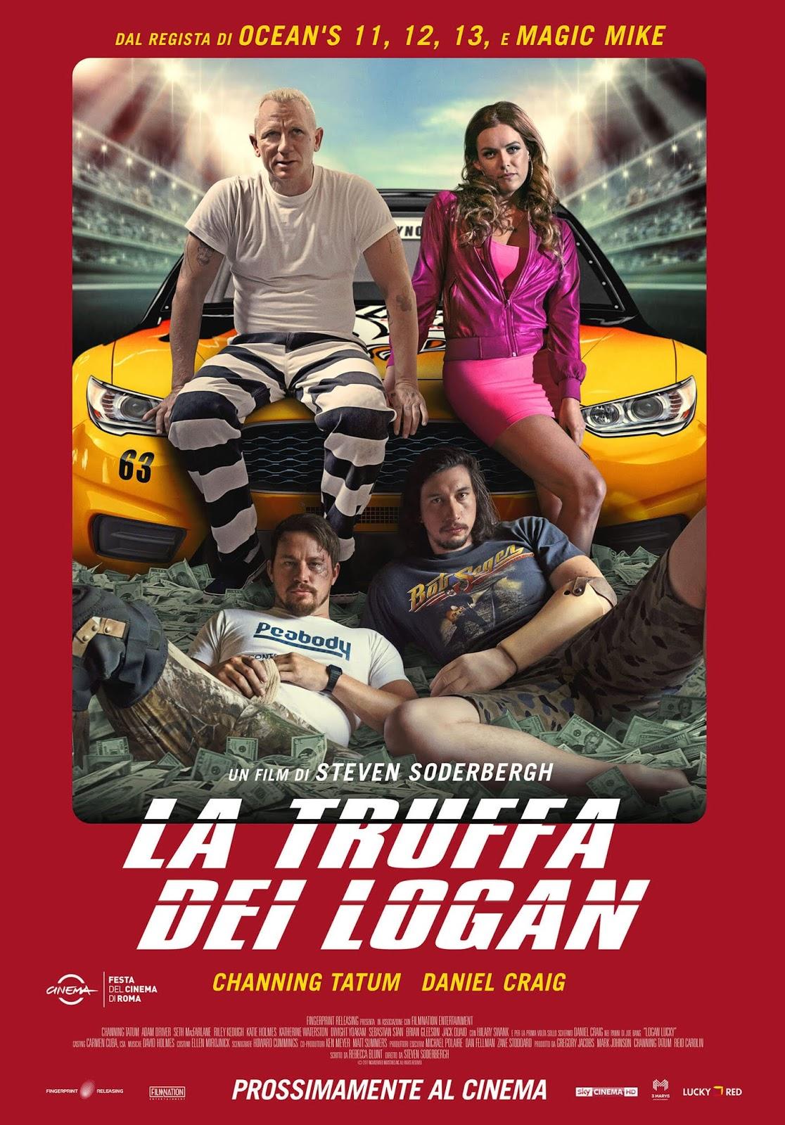 Locandina rossa de 'La Truffa dei Logan' di Steven Soderbergh
