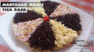 Resep Martabak Manis 3 Rasa