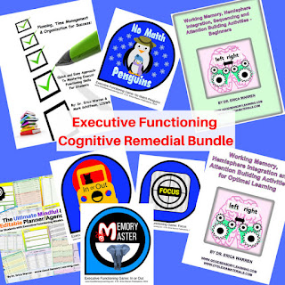 Executive functioning remedial materials