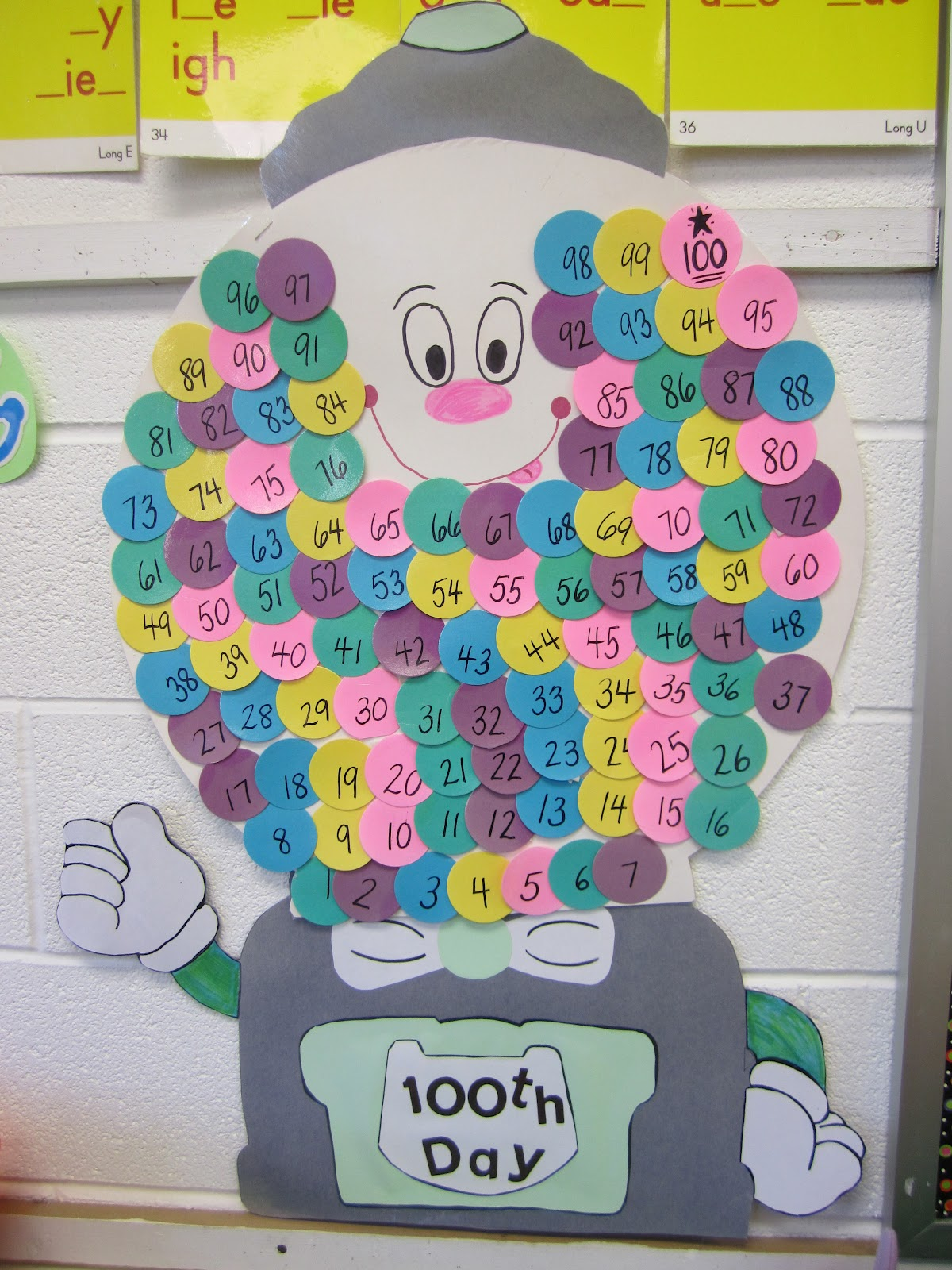 I Love That Idea 100th Day Gumball Machine