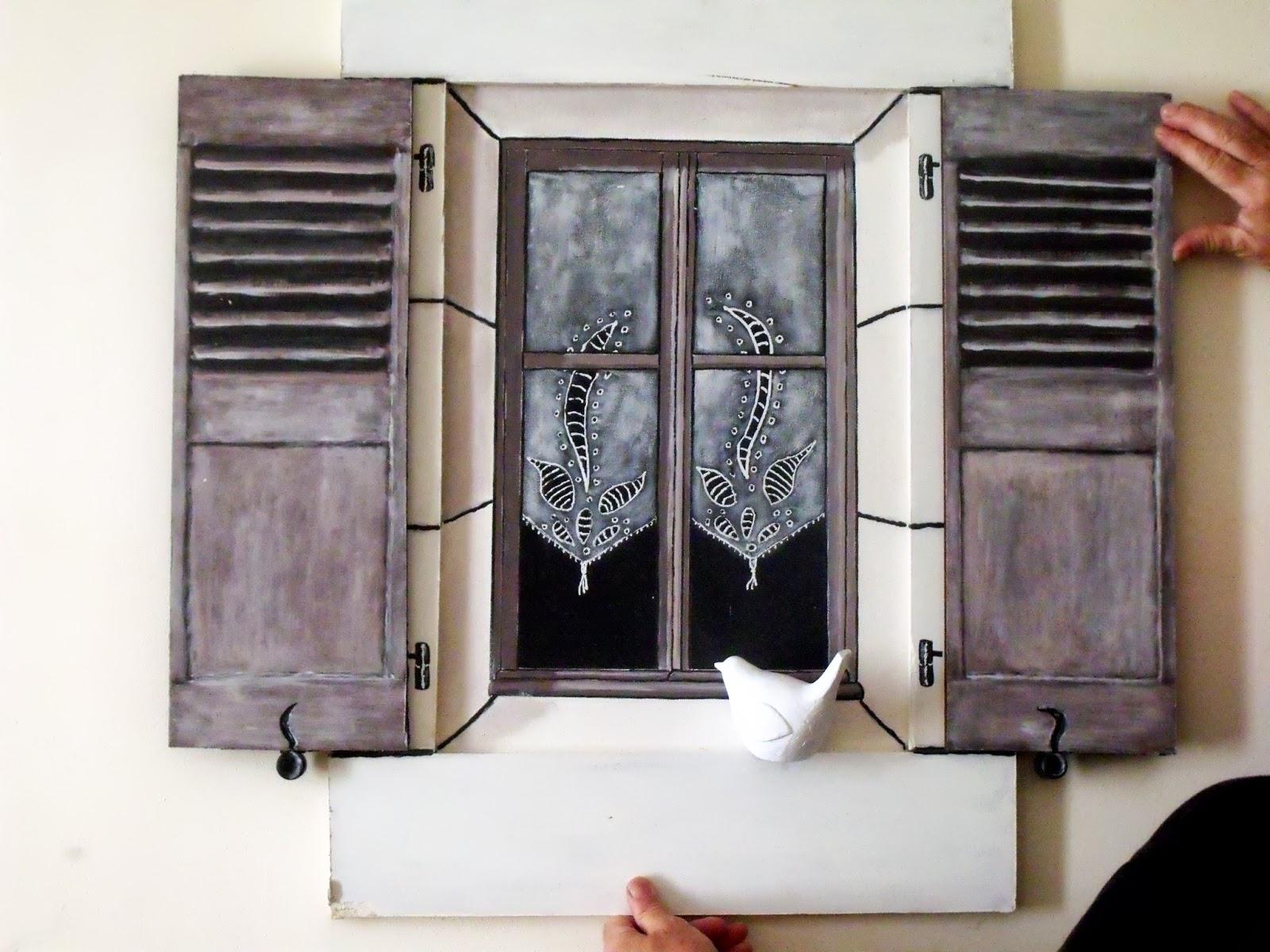 upcycling fenetre tableau en trompe l 39 oeil. Black Bedroom Furniture Sets. Home Design Ideas
