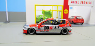 Tarmac Works Honda Civic EG6 Group A Racing Idemitsu Motion #100