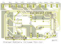 PCB layout desing charging monitor circuit