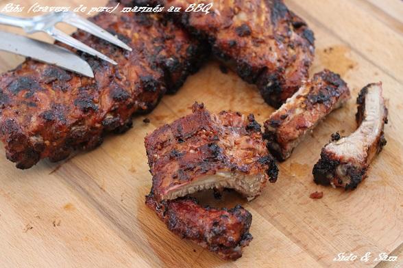 Ribs travers de porc marin s au bbq - Cuisiner travers de porc ...