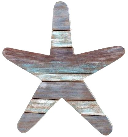 Wooden Starfish Cutout Wall Decor