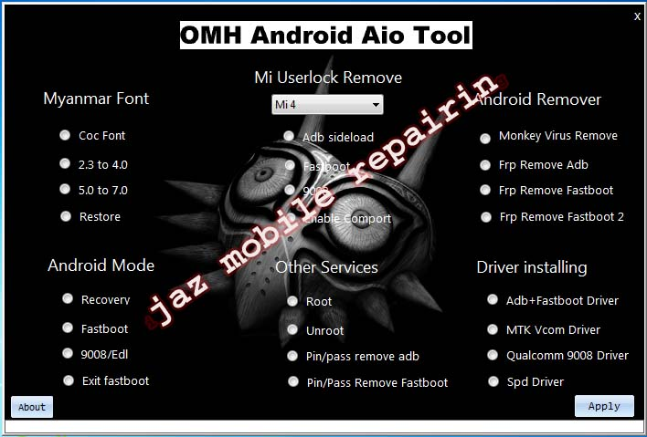 OMH Android All In One Tool - Ijaz Mobile Repairing