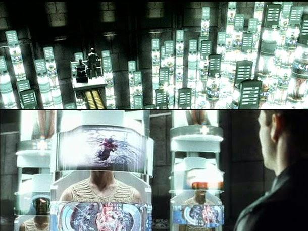 Prison futuriste dans Minority Report, de Steven Spielberg (2002)