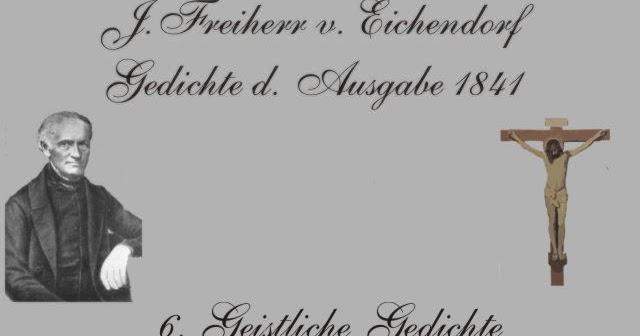 Gedichte Und Zitate Fur Alle J V Eichendorff Gedichte V 1841