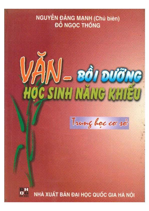 Văn Bồi Dưỡng Học Sinh Năng Khiếu THCS – Nguyễn Đăng Mạnh