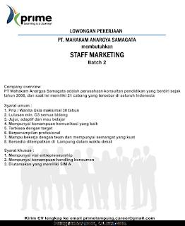 Lowongan Kerja Lampung di PT. Mahakam Anargya Samagata Terbaru Juni 2016