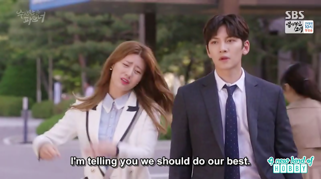 bong hee and ji wook after meeting the client - Suspicious Partner: Episode 11 & 12 korean drama