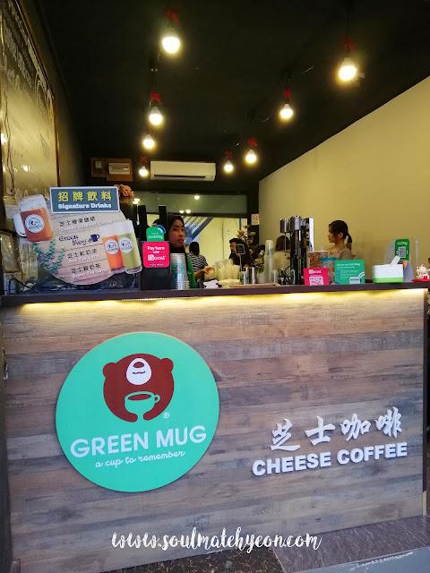 Green Mug Cheese Coffee