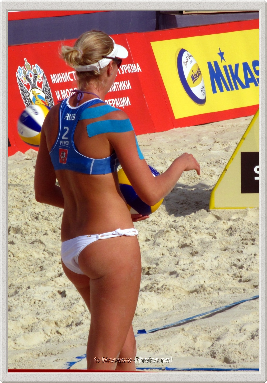 Russian Beach Volleyball Player Evgenia Ukolova
