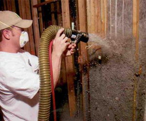 Accoustical Spray Foam -- Cellulose insulation with glue adhesive