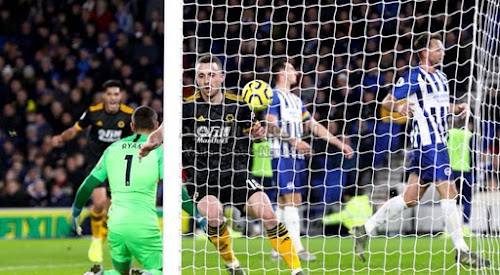 وولفرهامبتون يفرض التعادل الاجابي على فريق برايتون في الجولة 16 من الدوري الانجليزي