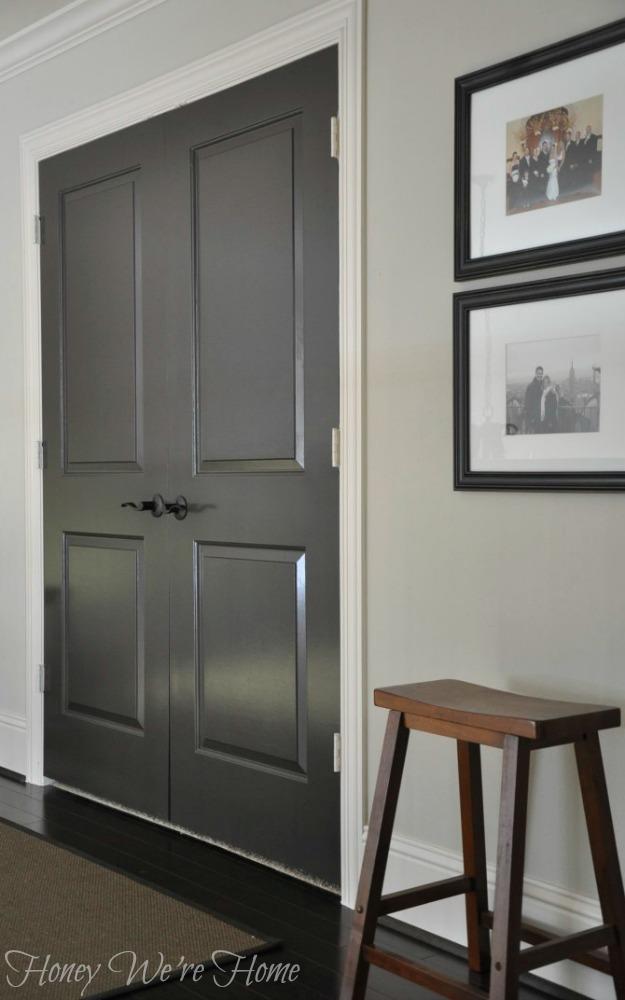 & Painted Dark Grey Doors | Home Design