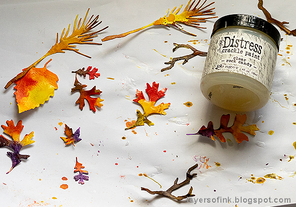 Layers of ink - Embossed Acetate Autumn Tag Tutorial by Anna-Karin Evaldsson, with Distress Rock Candy