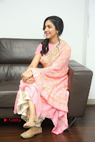 Actress Ritu Varma Pos in Beautiful Pink Anarkali Dress at at Keshava Movie Interview .COM 0291.JPG