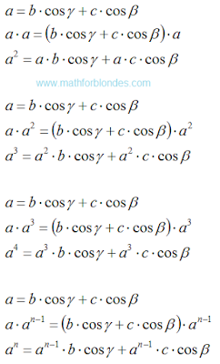 Conversion formulas. Law of cosines in general. Mathematics For Blondes.