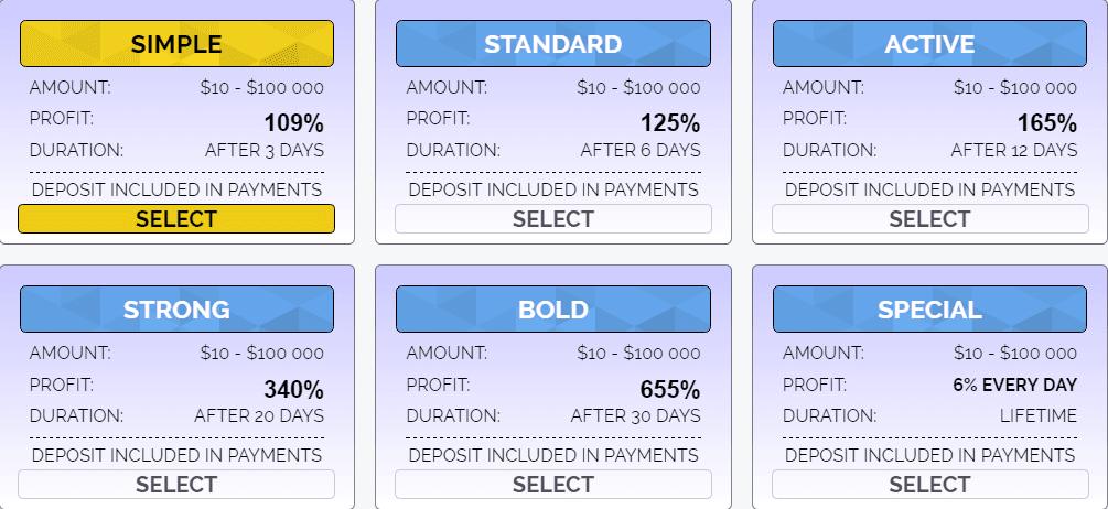 Инвестиционные планы Cryptos
