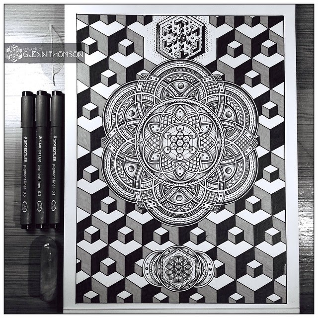 05-Divine-Interconnection-Glenn-Thomson-Black-and-White-Innovative-Mandala-Designs-www-designstack-co