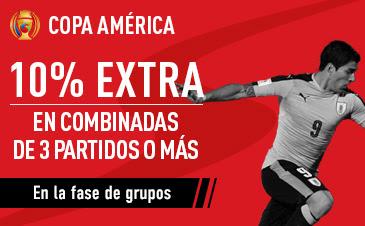 sportium gana 10% extra combinadas copa america 2016