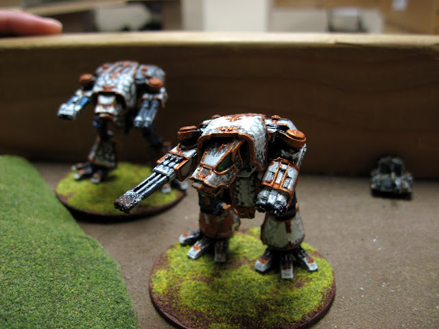 They are joined by some newly painted Warhounds.