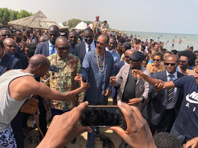 <President of Guinea arrives in Massawa