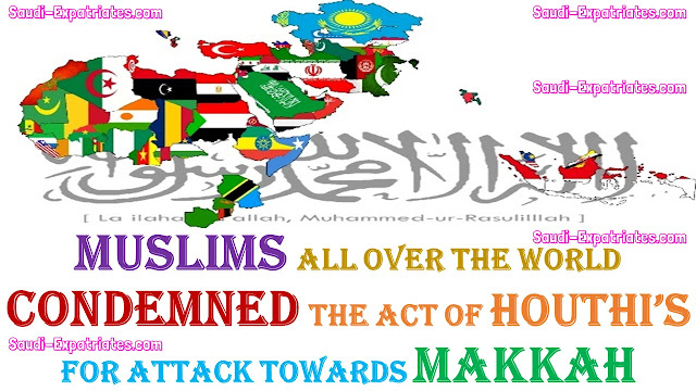 ONE BILLION MUSLIMS CONDEMNED THE ACT OF HOUTHIS