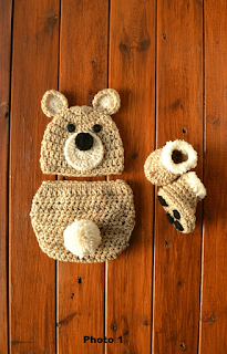 Crochet, Crochet Baby, Crochet Newborn, Crochet Newborn Baby Bear Outfit