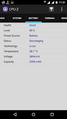 Check android phone bettary detail