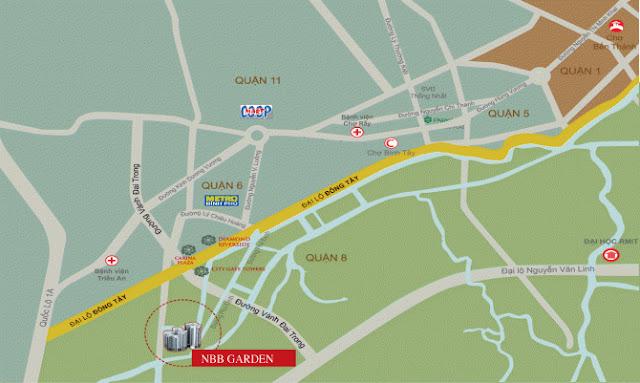 Vị trí căn hộ NBB Garden 3 - City Gate 3