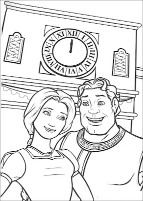 Free Online Shrek Coloring Pages